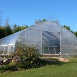 27' wide greenhouse pool enclosure