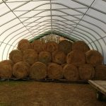 30' wide hay shelter